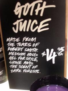 yum yum-it's goth juice!